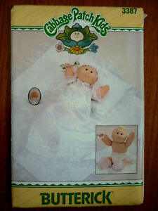 BUTTERICK 3378 SEWING PATTERN~CABBAGE PATCH PREEMIES CLOTHES~CHRISTENING OUTFIT