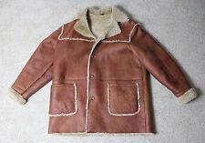 CABELAS Shearling Sheepskin Mens 2XL Tall Leather Jacket Coat