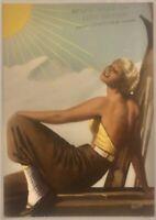 DELIAL CREMA SOLARE cartolina pubblicitaria viaggiata illustratore Boccasile