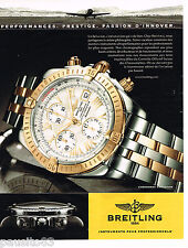 PUBLICITE ADVERTISING 065  2006  BREITLING  montre CHRONOMAT EVOLUTION AUTOMATIC