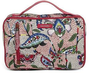 NWT Vera Bradley Stitched Garden Lge Blush & Brush Makeup Case Lighten Up $60