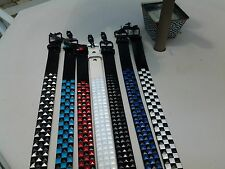 Men /Women's  Punk Rock  Belts - Studded and Pyramid  3 Rows  Various Colors !