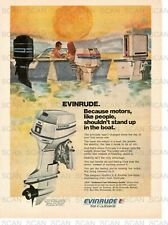 1974 Evinrude Outboard Motor Vintage Magazine Ad   Boating