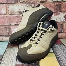Nike womens air acg hiking shoes size 6.5 cream walking boots 40.5 leather mens
