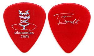 AEROSMITH Guitar Pick : 2002 Tour Tom Hamilton Obscenies Santa Claus Red