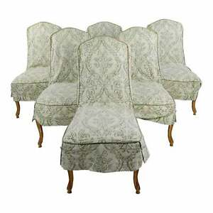 Robert Scott Fabulous Louis XV Leather upholstered Dining Chairs -Set of 6