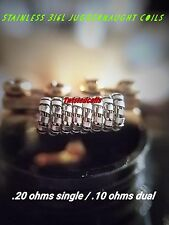 (8) Fused Stainless Steel 316L Juggernaught Coils (Micro Twisted Rda Rba Coils)