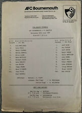 More details for afc bournemouth v fc seattle pre season friendly 1987/88