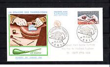 enveloppe 1er jour   journée du timbre  Paris  voyagée    1966