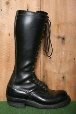 "WHITE'S Black Leather 16"" Tall 18-Eye Lineman Logger Biker Work Boots Sz 11D"
