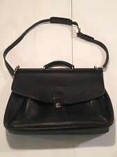 Vintage Coach 5266 Beekman Black Leather Briefcase/Attache/Lawyers/Messenger Bag