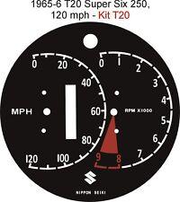 Suzuki T20 TC20 Super Six X6 Speedo Tacho Contador Rev. superposición de dial del reloj