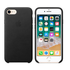 New Genuine Apple iPhone 8 & iPhone 7 Leathe Case Cover Black - Retail Packing