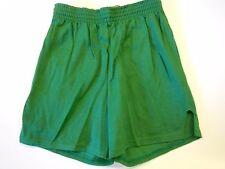 "NOS Vtg '70's Sand-Knit Running Gym Shorts Size Small 24""-26"" USA Kelly Green"