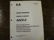 Kawasaki 60ZV-2 Wheel Loader Adjustment Shop Service Repair Manual