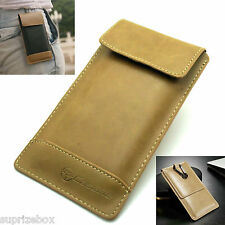 DESIGNER Genuine Leather Pouch Card Case Cover for Apple iPhone X 8 7 7 Plus 6 5 Tan iPhone 4 4s