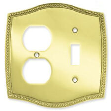 BRAINERD Solid Brass Single Light Switch Duplex Receptacle Outlet Cover 64063