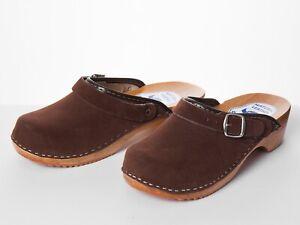 Women's Work Clogs Garden Kitchen Hospital Ladies Slip On Suede Shoes Mules UK