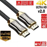 PREMIUM HDMI Cable v2.0 0.5M/1M/2M-9M High Speed 4K UltraHD 2160p 3D Lead