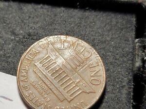 1964 LINCOLN PENNY  ERROR (  major die clash) 72T