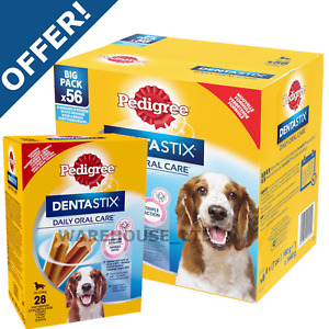 Pedigree Dentastix Dental Dog Oral Chew Treat  Small, Med, Large, 56 or 28