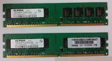2 GB (2x1GB) ELPIDA DDR2 PC2-5300U-555 667MHz 240pin Non-ECC EBE11UD8AGWA-6E-E