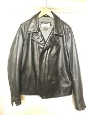 Schott X Lucky Brand Collaboration 626 Black Leather Jacket
