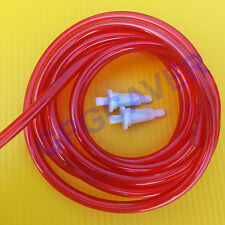 Go Cart Kart Racing Clone Ohv 6ft Red fuel line hose and two inline filter kit