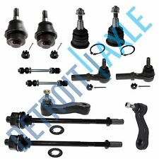 New 12pc Complete Front Suspension Kit for GM Models - 4-Groove Pitman Arm