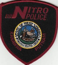 NITRO POLICE KANAWHA PUTNAM WEST VIRGINIA WV SHOULDER PATCH