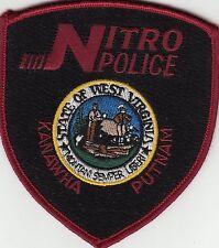 NITRO POLICE KANAWHA PUTNAM WEST VIRGINIA WV SHOULDER PATCH