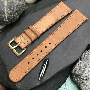 rare 1940s Rolled Edge Bahia Pigskin 18mm Tapered nos Vintage Watch Band
