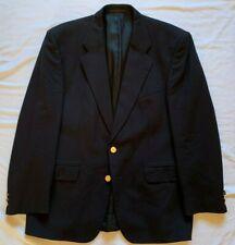 Pinstripe Mens Pure Wool Blend Single Breasted Navy Blazer 42R