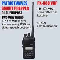 Patriotwaves PX-888 Dual Purpose SDR digital / VHF Analog Two-way radio (SDR)