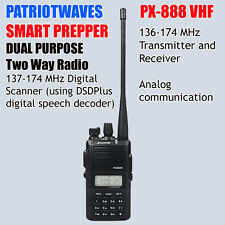 Patriotwaves PX-888 Dual Purpose SDR digital / VHF Analog Two-way radio (SDR)