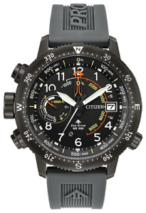 Citizen PROMASTER ALTICHRON ECO DR Black Dial Rubber Band Men's Watch BN5057-00E