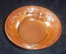Vintage FIRE KING Carnival Glass Luster Ware Peach Berry Custard Bowl