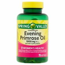 Spring Valley Evening Primrose Oil 1000 mg Women's Health 75 Softgels