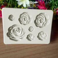 3D Rose Flower Soft Silicone Fondant Chocolate Mould Decor Sugarcraft Cake E3J2