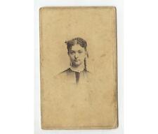 Civil War Era Lady Cdv Studio Portrait By Masury, Boston