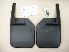 New Genuine Jeep Wrangler 2007- Front Mudflaps Mudguards Splashguards 82210233