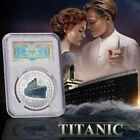1912 Titanic 100th Anniversary Silver Commemorative Coin Slab Case Souvenir Gift