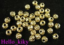 150pcs Antiqued gold plt tiny dotted spacer beads A585