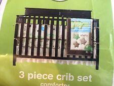 CIRCO Nursery Crib Set 3 Piece Nature Animals Comforter Bumper Pad & Sheet *NIP*