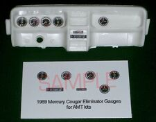 1969 MERCURY COUGAR ELIMINATOR GAUGE FACES for 1/25 scale AMT KITS