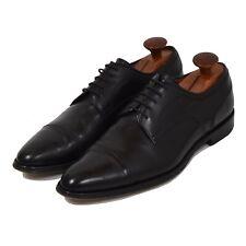 BALLY Gonars Schuhe Shoes Gr 7E Made in Switzerland Cap Toe Schwarz Black Leder