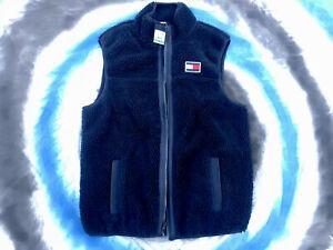 NWT Tommy Hilfiger Faux Fur Navy Blue Vest Size L