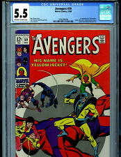 Avengers #59 CGC 5.5 1968 Marvel Comic Amricons 1st Yellowjacket K48