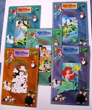 5 Disney 1991 Treasure Chest Books Bambi Dalmations Peter Pan Mermaid JungleBook
