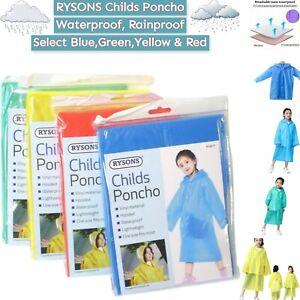 CHILDREN WATERPROOF RAIN COAT HOODED RAIN PONCHO STORM BREAK KIDS,BOYS,GIRLS